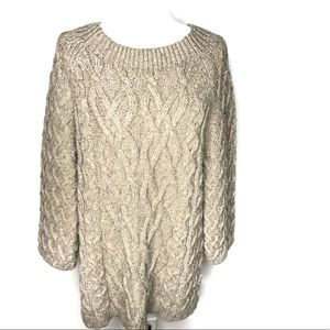 Ann Taylor Loft Chunky Cable Knit Sweater Size XL